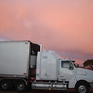 truck-lorry-sunset-road